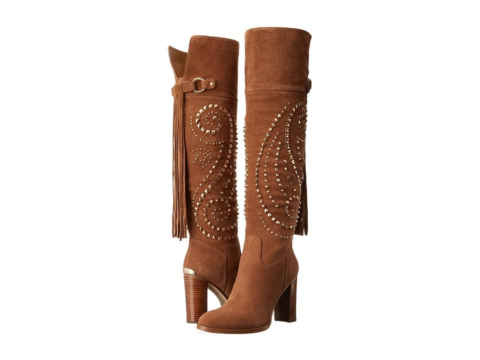 MICHAEL Michael Kors - Reena Studded Tall Boot (Dark Caramel Sport Suede) Women