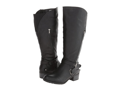 Type Z - Liberty Extra Wide Calf (Black) Women's Wide Shaft Boots