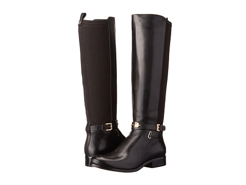 MICHAEL Michael Kors - Arley Stretch Boot (Black Vachetta/Sensitive Stretch) Women's Dress Pull-on Boots