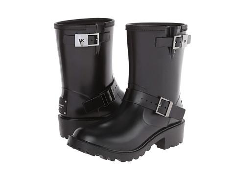 MICHAEL Michael Kors - Devenport Rainbootie (Black Rubber/Vachetta/Lining) Women