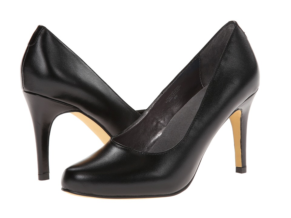 Fitzwell - Lizzy Pump (Black Leather) High Heels