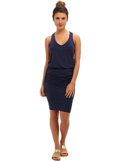 SALE! $84.99 - Save $53 on Splendid Ruched Mini Dress (Heather Navy) Apparel - 38.41% OFF $138.00