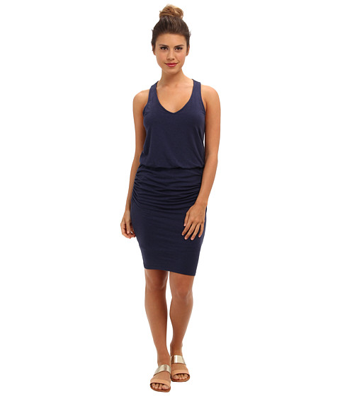 Splendid - Ruched Mini Dress (Heather Navy) Women's Dress