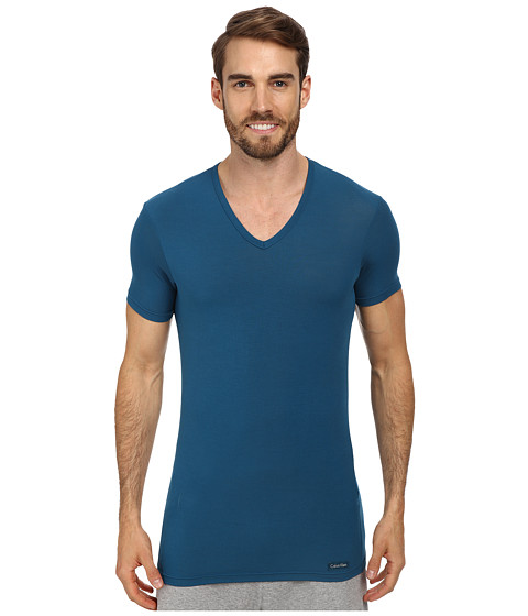 Calvin Klein Underwear - Body Micro Modal S/S V-Neck U5563 (Delta Blue) Men