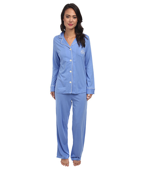 LAUREN by Ralph Lauren - Hammond Knits Pajama Set (Gable Blue) Women's Pajama Sets