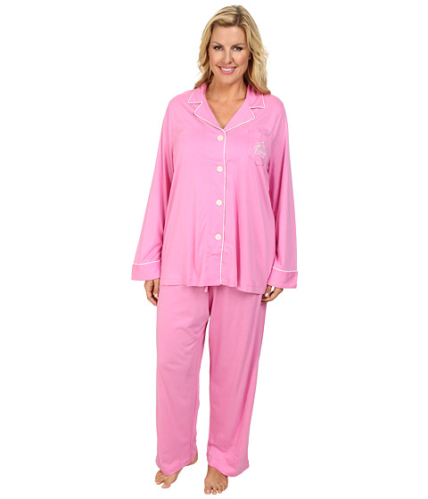 LAUREN by Ralph Lauren - Plus Size Hammond Knits Pajama Set (Metro Pink) Women's Pajama Sets
