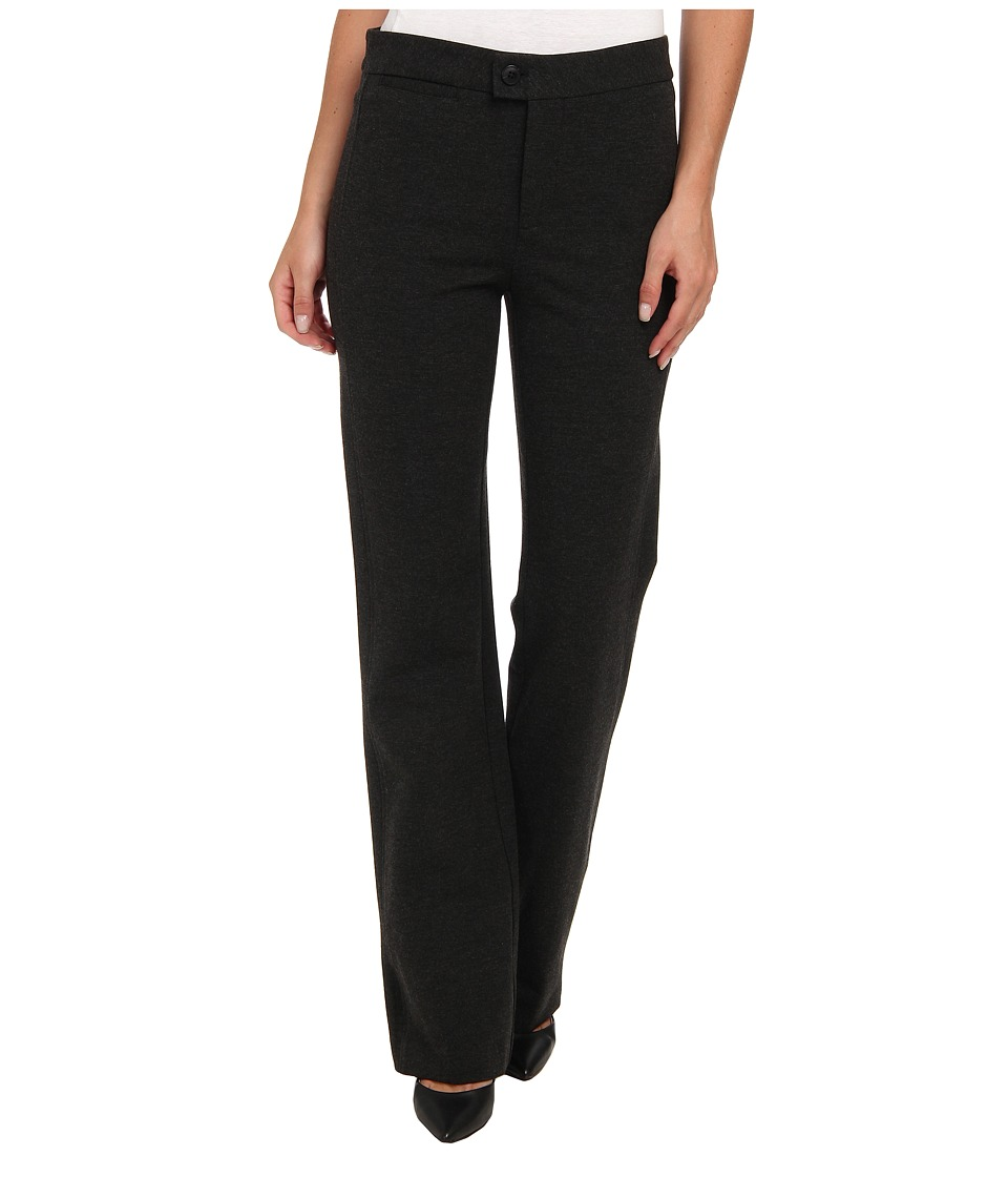 NYDJ - Ponte Trouser (Heather Charcoal) Women's Dress Pants