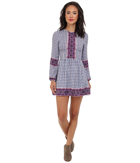 Dolce Vita - Raisa Long Sleeve Shift Dress (Multi) Women's Dress