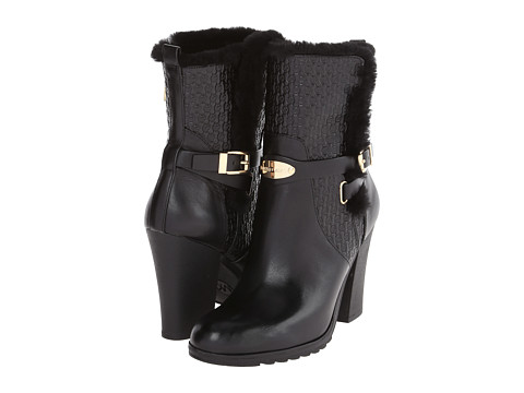 MICHAEL Michael Kors - Breck Ankle Boot (Black Embossed Vachetta/Shearling) Women