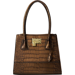 London Fog Hudson Satchel (Bronze) Satchel Handbags