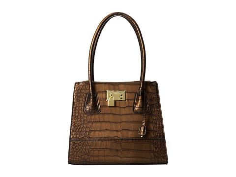 London Fog - Hudson Satchel (Bronze) Satchel Handbags