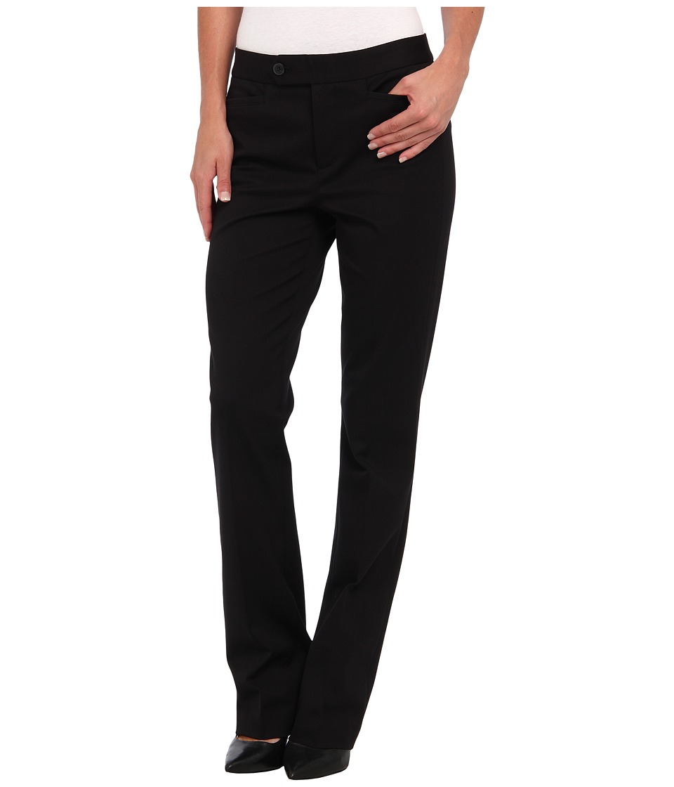 NYDJ - Bi-Stretch Welt Pocket Pant (Black) Women's Dress Pants