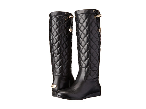 MICHAEL Michael Kors - Lizzie Quilted Boot (Black Vachetta/Nappa) Women