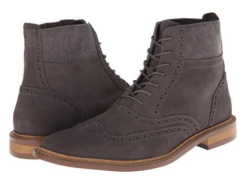 Original Penguin - Brogue WT Boot (Grey Hobnail) Men's Lace up casual Shoes