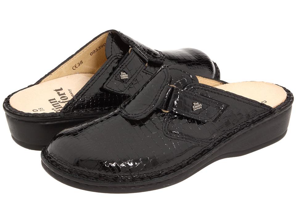 Finn Comfort - Orb - 2506 (Black Patent Croc) Women's Clog/Mule Shoes