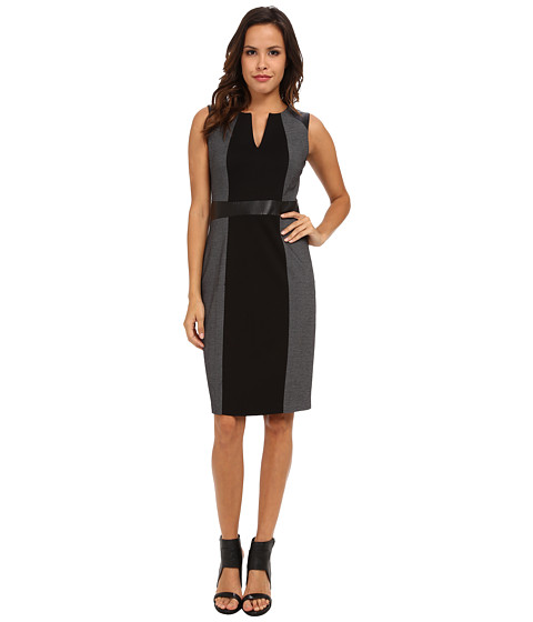 NYDJ - Lexie Tweed Mix Media Dress (Black) Women's Dress