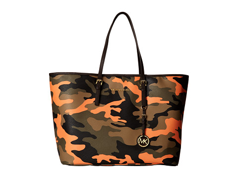 MICHAEL Michael Kors Jet Set Travel Medium Travel Tote (Poppy) Tote Handbags