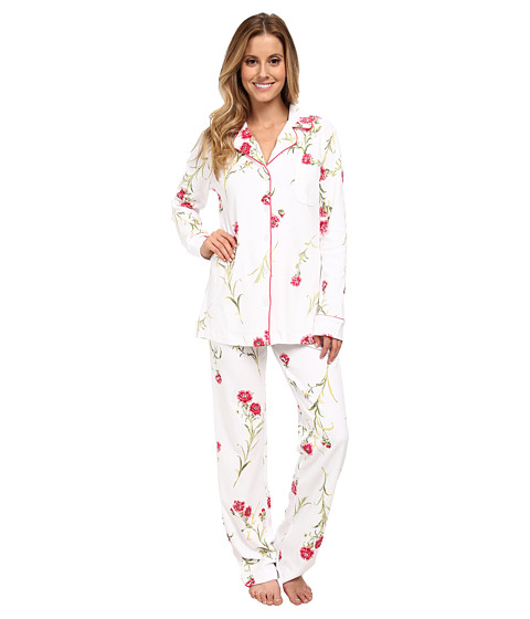 Carole Hochman - Forever Carnation Pajama (Vintage Wild Flower White) Women's Pajama Sets