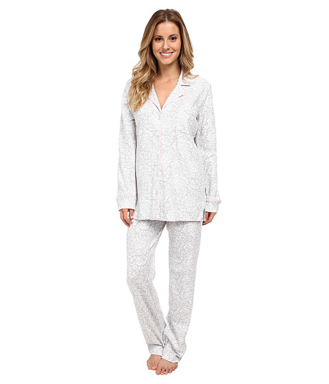 Carole Hochman - Dreams Of Lace Pajama (Floral Lace Grey) Women's Pajama Sets
