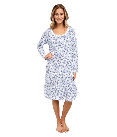 Carole Hochman - Floral Arrangements Short L/S Gown (Floral Arrangements) Women