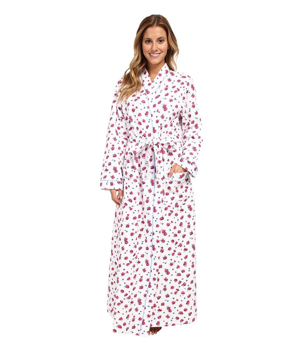 Carole Hochman - Floral Arrangements Long Robe (Falling Floral) Women's Pajama