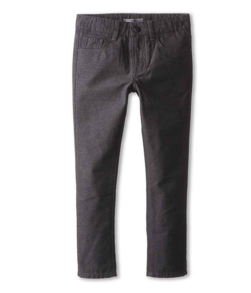 Vince Kids - 5-Pocket Brushed Heather Pant (Little Kids) (Charcoal Heather) Boy's Casual Pants