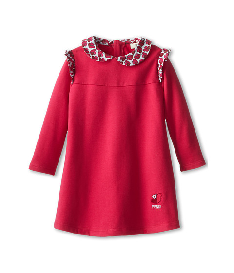 Fendi Kids - Fleece Dress w/ Squirrel Trim (Infant/Toddler) (Red) Girl's Dress