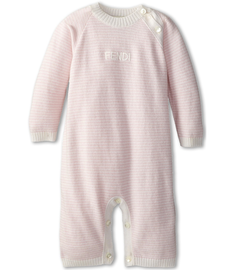 Fendi Kids - Striped Knitted Combi (Infant) (Pink) Girl's Clothing