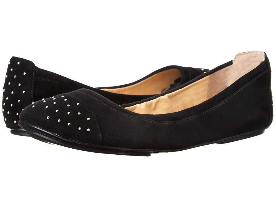Cole Haan - Avery Cap Toe Ballet (Black Suede) Women