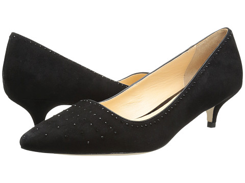 Cole Haan - Bradshaw JWL Pump 45 (Black Suede) Women's 1-2 inch heel Shoes