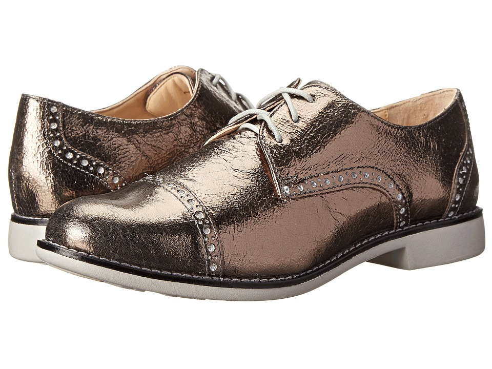 Cole Haan - Gramercy Oxford (Dark Silver Metallic Crackle/Paloma) Women's Lace Up Wing Tip Shoes