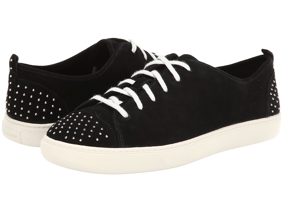 Cole Haan - Hendrix Det Lace Sneaker (Black/Studs) Women's Shoes