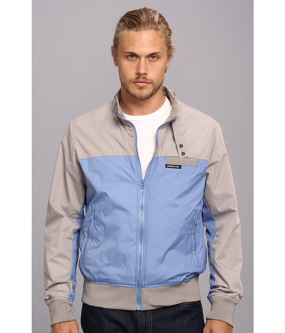 Members Only - Color Block Bomber (Grey/Lake) Men's Coat