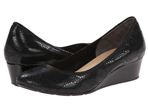 Cole Haan - Tali Wedge 40 (Black Snake Print) Women