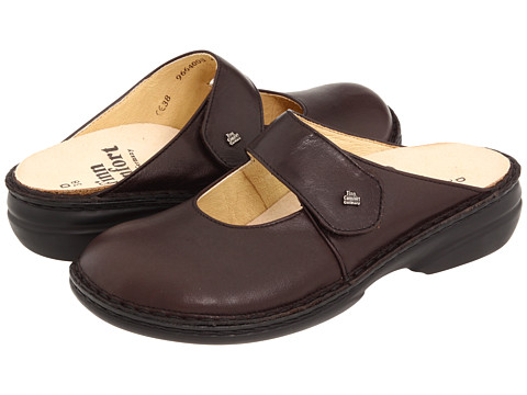 Finn Comfort - Stanford - 2552 (Kaffee Senegal Leather) Women's Clog Shoes