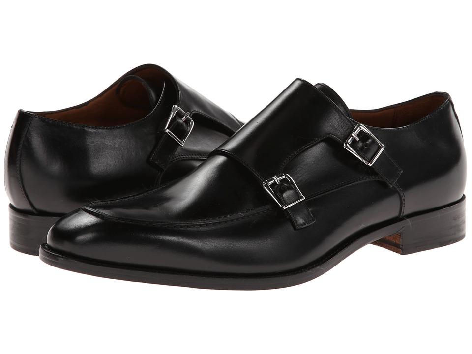 Massimo Matteo - Dbl Monk Mocc Toe (Black) Men's Slip on Shoes