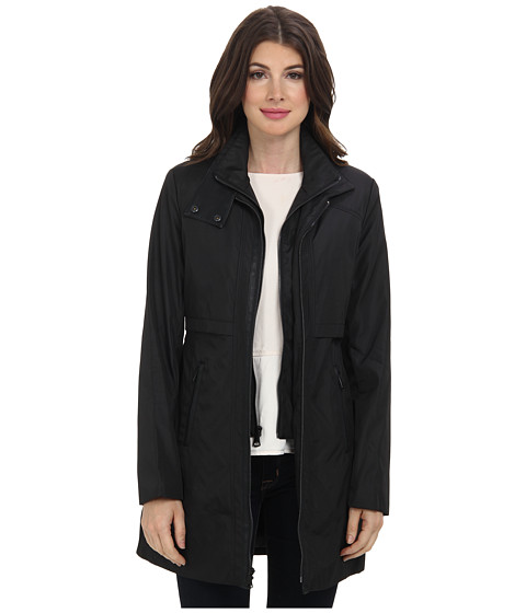 Marc New York by Andrew Marc - Carey - Rain w/ Bib (Black) Women's Coat