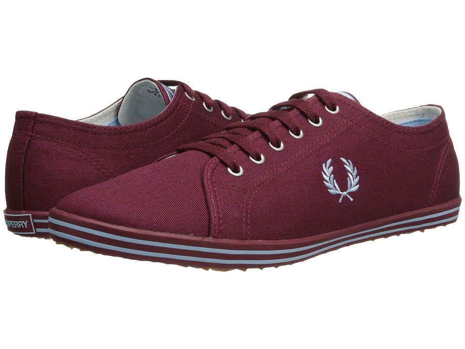 Fred Perry - Kingston Twill (Maroon/Glacier) Men's Lace up casual Shoes