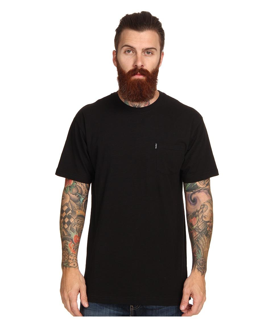 Crooks & Castles - Slub Knit Crew Pocket T-Shirt (Black) Men