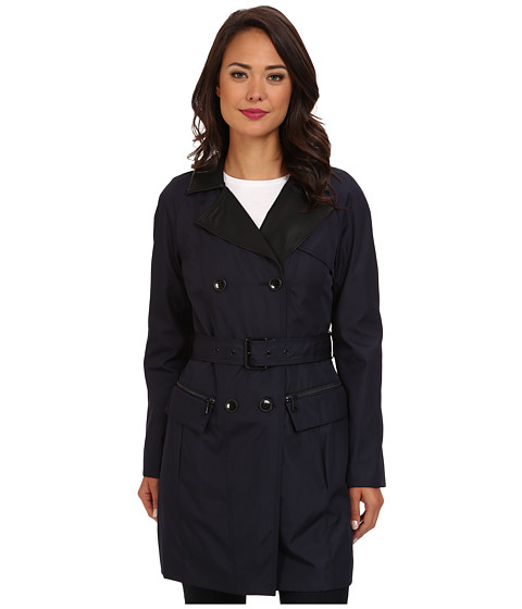 Marc New York by Andrew Marc - Chloe - DB Rain Trench (Ink) Women's Coat