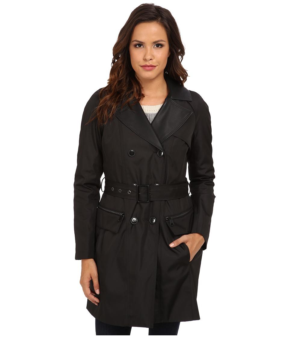 Marc New York by Andrew Marc - Chloe - DB Rain Trench (Black) Women's Coat