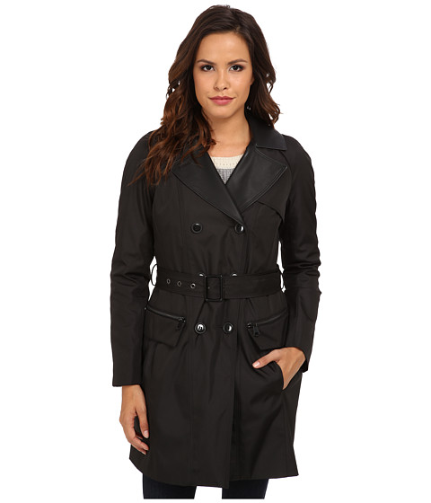 Marc New York by Andrew Marc - Chloe - DB Rain Trench (Black) Women's Coat