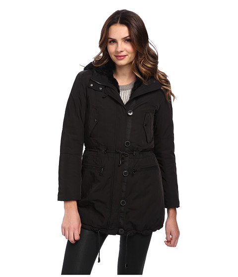 Marc New York by Andrew Marc - Dee - Faux Fur Lined Anorak (Black) Women's Coat