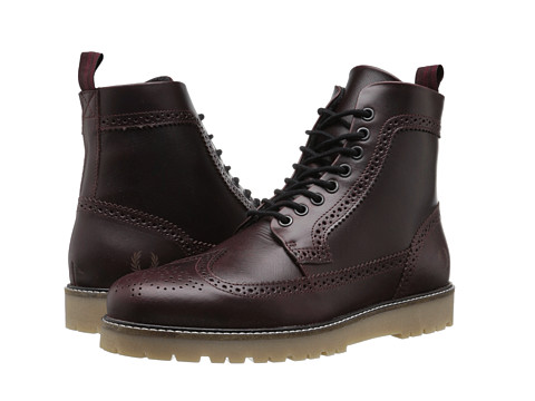Fred Perry - Northgate Boot Leather (Oxblood/Black) Men's Boots