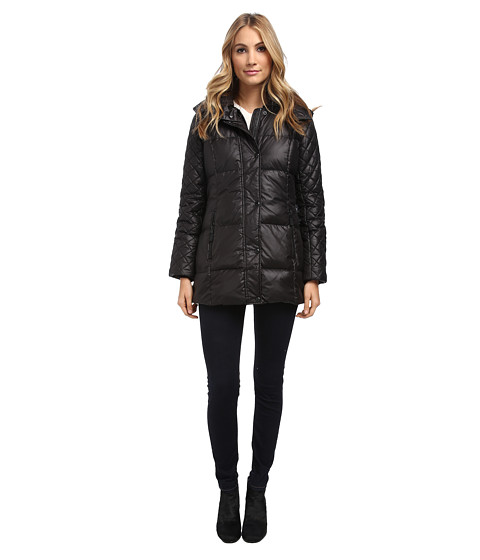 Marc New York by Andrew Marc - Alise - Laquer Puffer (Black) Women's Coat