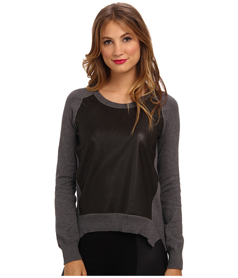 Bailey 44 - Horseback Sweater (Grey/Brown) Women's Long Sleeve Pullover