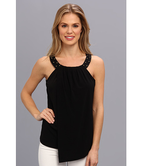 Calvin Klein - Solid Double Layer Top (Black) Women's Sleeveless
