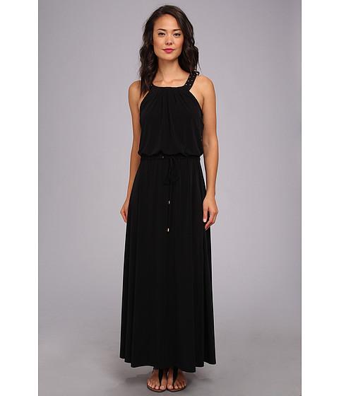 Calvin Klein - Solid Maxi Dress w/ Studs (Black) Women