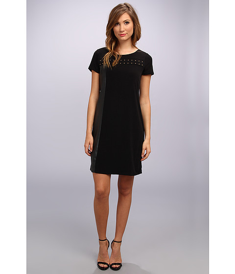 Calvin Klein - Solid Dress w/ Studs (Black) Women