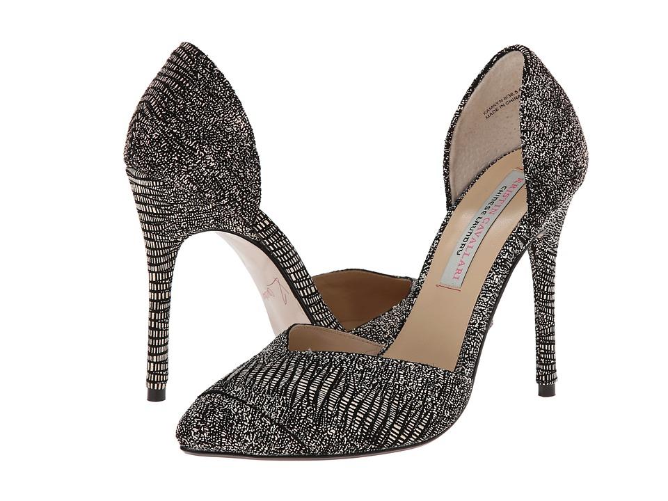 Kristin Cavallari Kamryn (Black/White Lizard) High Heels